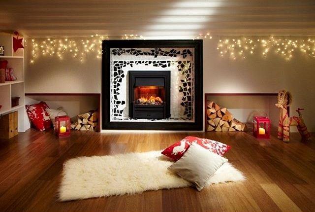 Новогодний декоративный электрокамин