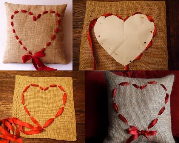 Декоративная подушка сделать своими руками