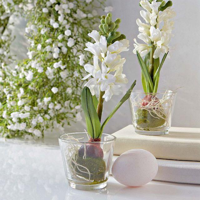 пасхальные цветы в декоре дома