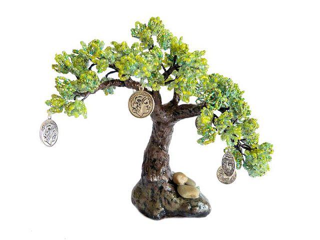 Денежное дерево своими руками из бисера и монет мастер класс