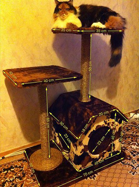 многоуровневые домики для кошки
