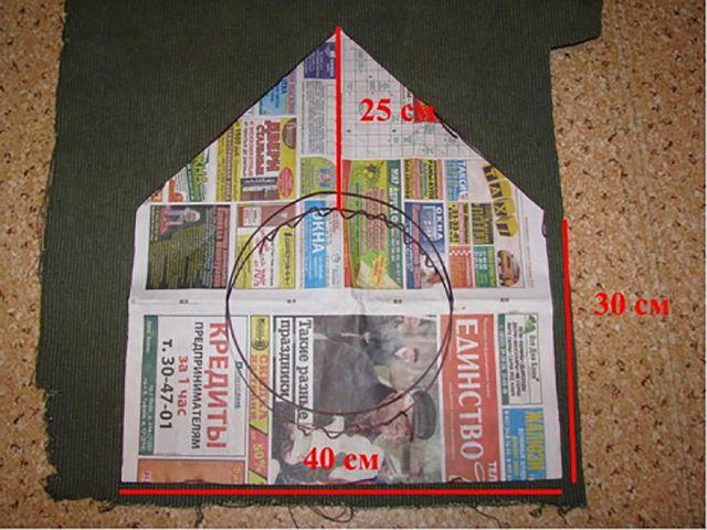выкройка домик из ткани
