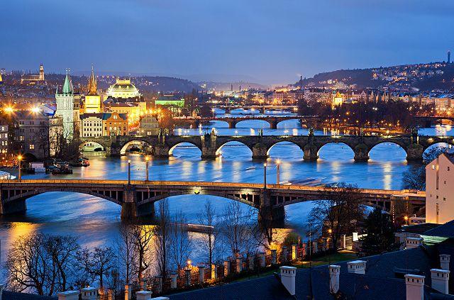 В центре Праги