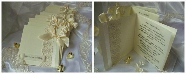 кружевное приглашение свадьба