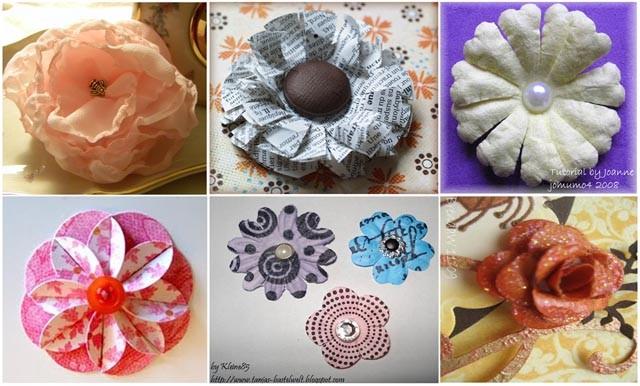 Как сделать цветок из бумаги для скрапбукинга своими руками? 52