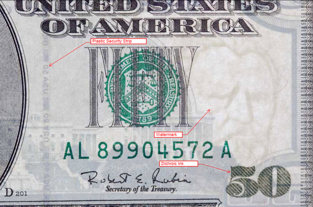 определить подлинность долларов
