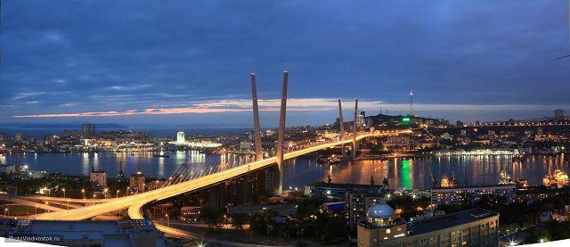 Владивосток в вечернее время